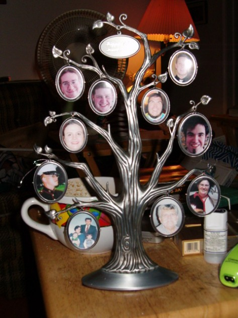 A family tree we gave to the J's for their anniversary one year.